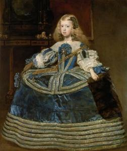 The Infanta Margarita in blue and gold