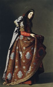 Francisco de Zurbarán, Portrait of Santa Casilda, oil on canvas, Museo Thyssen, Madrid.jpg,