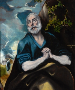 El Greco, 1580-1589, The Tears of St Peter, ooc, The Bowes Museum, Castle Barnard, Co Durham