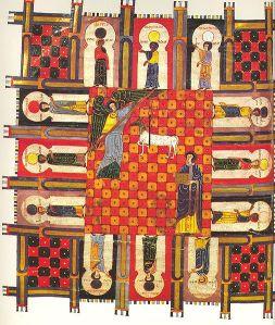 The New Jerusalem, Beato de Liébana, Commentarium in Apocalipsin, (codex of Fernando I and Doña Sancha), Biblioteca Nacional de España VITR./14/2/, f. 253v.