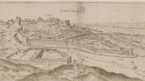 Anthonie van der Wijngaerde, Vista de Tortosa, 1563. Osterreichische Nationalbibliothek, Vienna. Cod. Min. 41, fol. 7.