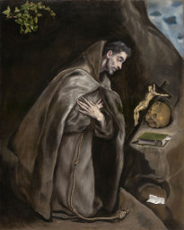 El Greco: St Francis Kneeling in Meditation (Art Institute of Chicago)