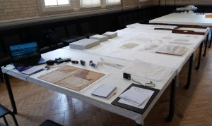 Fig. 1. Working session at V&A Clothworkers' Centre