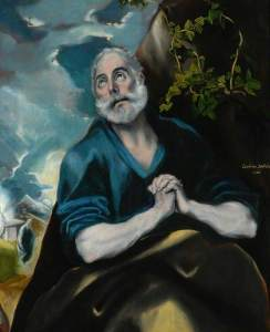 El Greco, 1541-1614; The Tears of St Peter